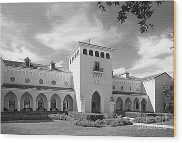 Rollins College Olin Library Wood Print by University Icons