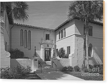 Rollins College Warren Administration Building Wood Print by University Icons