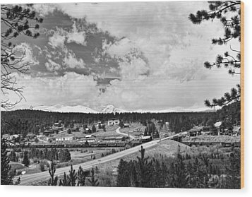 Rollinsville Colorado Small Town 181 In Black And White Wood Print by James BO  Insogna