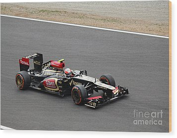 Romain Grosjean Wood Print by David Grant