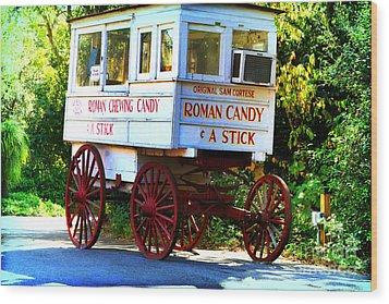 Roman Candy Wood Print by Scott Pellegrin