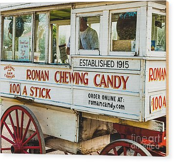 Roman Chewing Candy Nola Wood Print by Kathleen K Parker