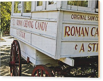 Roman Chewing Candy Wood Print by Scott Pellegrin