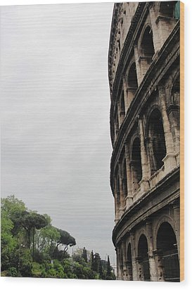 Wood Print featuring the photograph Roman Coliseum by Tiffany Erdman