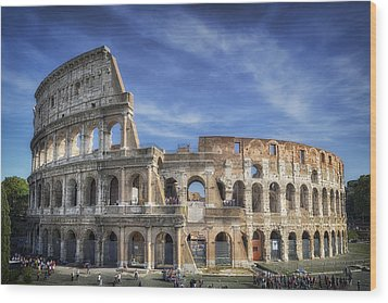 Roman Icon Wood Print by Joan Carroll