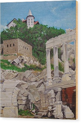 Roman Stadium In Plovdiv Wood Print by Nina Mitkova