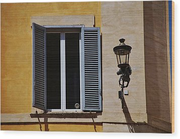 Roman Window Wood Print by Dany Lison