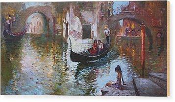 Romance In Venice 2013 Wood Print by Ylli Haruni