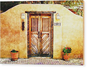 Romance Of New Mexico Wood Print by Barbara Chichester