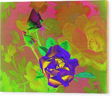 Romancing The Rose Wood Print by Will Borden