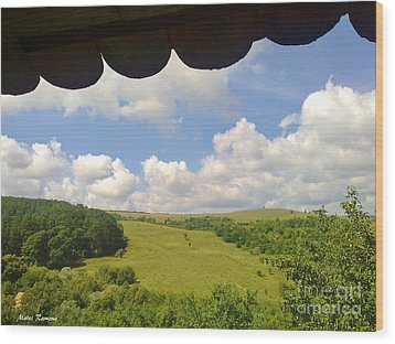 Wood Print featuring the photograph Romanian Hills by Ramona Matei