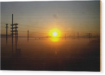 Wood Print featuring the photograph Romanian Sunset by Giuseppe Epifani