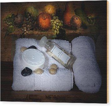 Romantic Bath Wood Print by Cecil Fuselier
