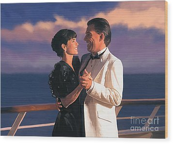 Wood Print featuring the painting Romantic Cruise by Tim Gilliland