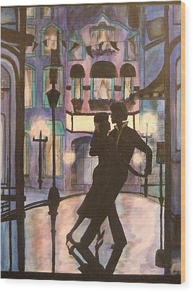 Romantic Dance Wood Print by Lynne McQueen