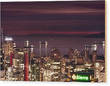 Wood Print featuring the photograph Romantic English Bay Mdcci by Amyn Nasser