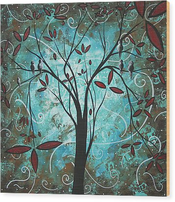 Romantic Evening By Madart Wood Print by Megan Duncanson