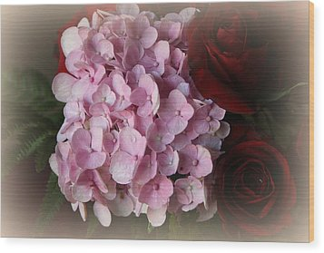 Wood Print featuring the photograph Romantic Floral Fantasy Bouquet by Kay Novy