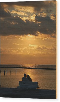 Romantic Sunrise Wood Print by Leticia Latocki