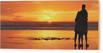 Wood Print featuring the photograph Romantic Sunset  by Chad Pooschke