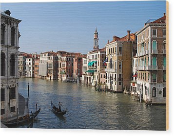 Romantic Venice Wood Print by Terence Davis