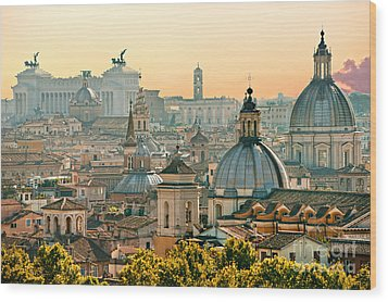 Rome - Italy Wood Print by Luciano Mortula
