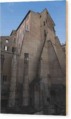 Rome - Centuries Of History And Architecture  Wood Print by Georgia Mizuleva