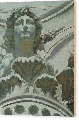 Rome Statue Wood Print by Khairzul MG