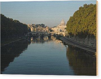 Wood Print featuring the photograph Rome Waking Up by Georgia Mizuleva