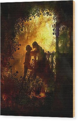 Romeo And Juliet - The Love Story Wood Print by Lilia D