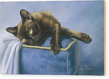 Romeo Wood Print by Lucie Bilodeau