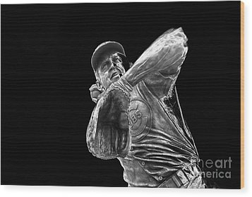 Ron Santo - H O F Wood Print by David Bearden