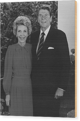 Ronald And Nancy Reagan Wood Print by War Is Hell Store