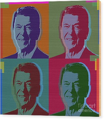 Ronald Reagan Wood Print