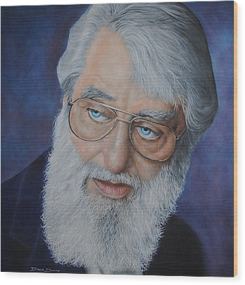 Ronnie Drew Wood Print by David Dunne