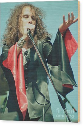 Ronnie James Dio Of Black Sabbath During 1980 Heaven And Hell Tour-2nd New Photo  Wood Print