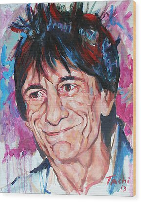 Ronnie Wood Print by Tachi Pintor