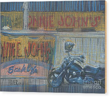 Wood Print featuring the painting Ronnie's Bike by Donald Maier