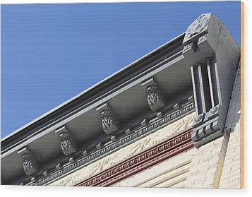 Roof Detail Wood Print by Jp Grace