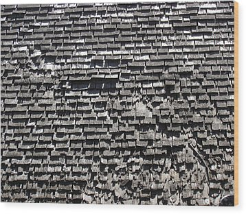 Roof Textures Wood Print