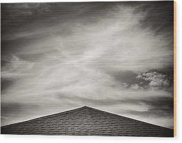 Wood Print featuring the photograph Rooftop Sky by Darryl Dalton