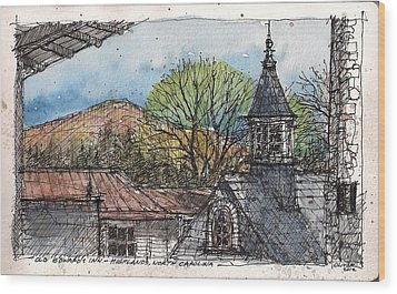 Rooftops At Old Edwards Inn Wood Print by Tim Oliver