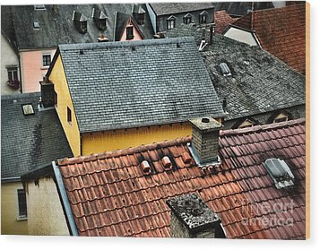 Wood Print featuring the photograph Rooftops by Nick  Biemans
