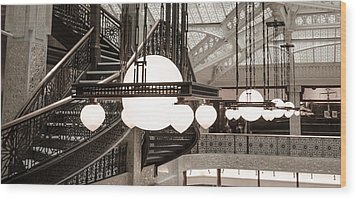 Rookery Building Lights Wood Print