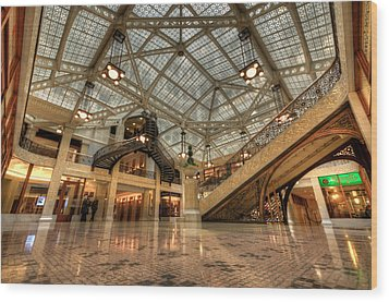 Rookery Building Main Lobby And Atrium Wood Print
