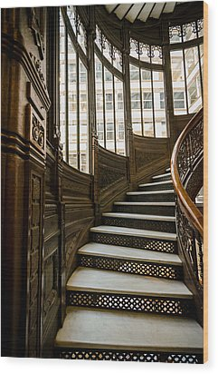 Rookery Building Up The Oriel Staircase Wood Print