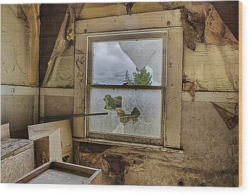Room With A View Wood Print by Caitlyn  Grasso
