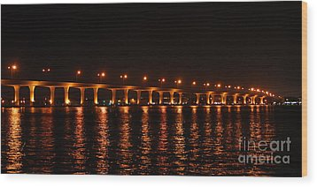 Wood Print featuring the photograph Roosevelt Bridge Panorama by Olga Hamilton