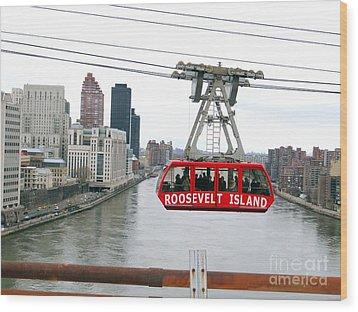 Roosevelt Island Tram Wood Print by Ed Weidman