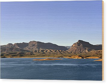 Roosevelt Lake Arizona Wood Print by Christine Till